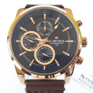 Authentic Naviforce Leather Watch   Watches for sale in Greater Accra, Ashaiman Municipal