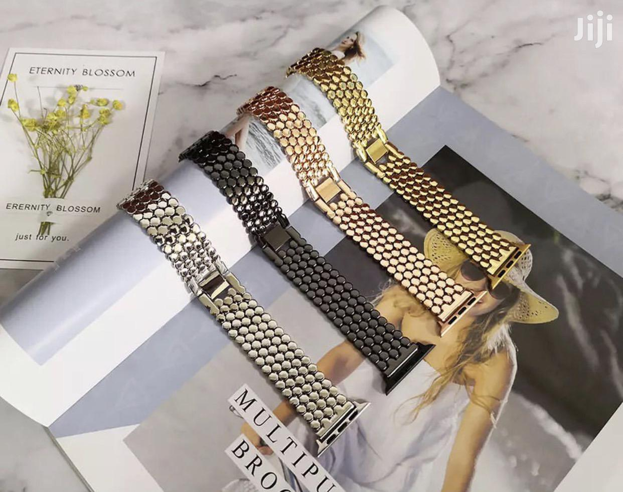 P1 Stainless Steel Strap/Band for Apple Watch Series 1 to 6   Smart Watches & Trackers for sale in Nyaho Medical Centre, Dworwulu, Ghana