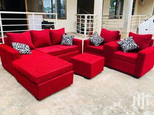 Red Whine Colour L Shaped Sofa Chair | Furniture for sale in Greater Accra, Adabraka