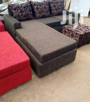 Coffe Brown High Quality L Shaped Sofa With Centre Table | Furniture for sale in Greater Accra, Adabraka