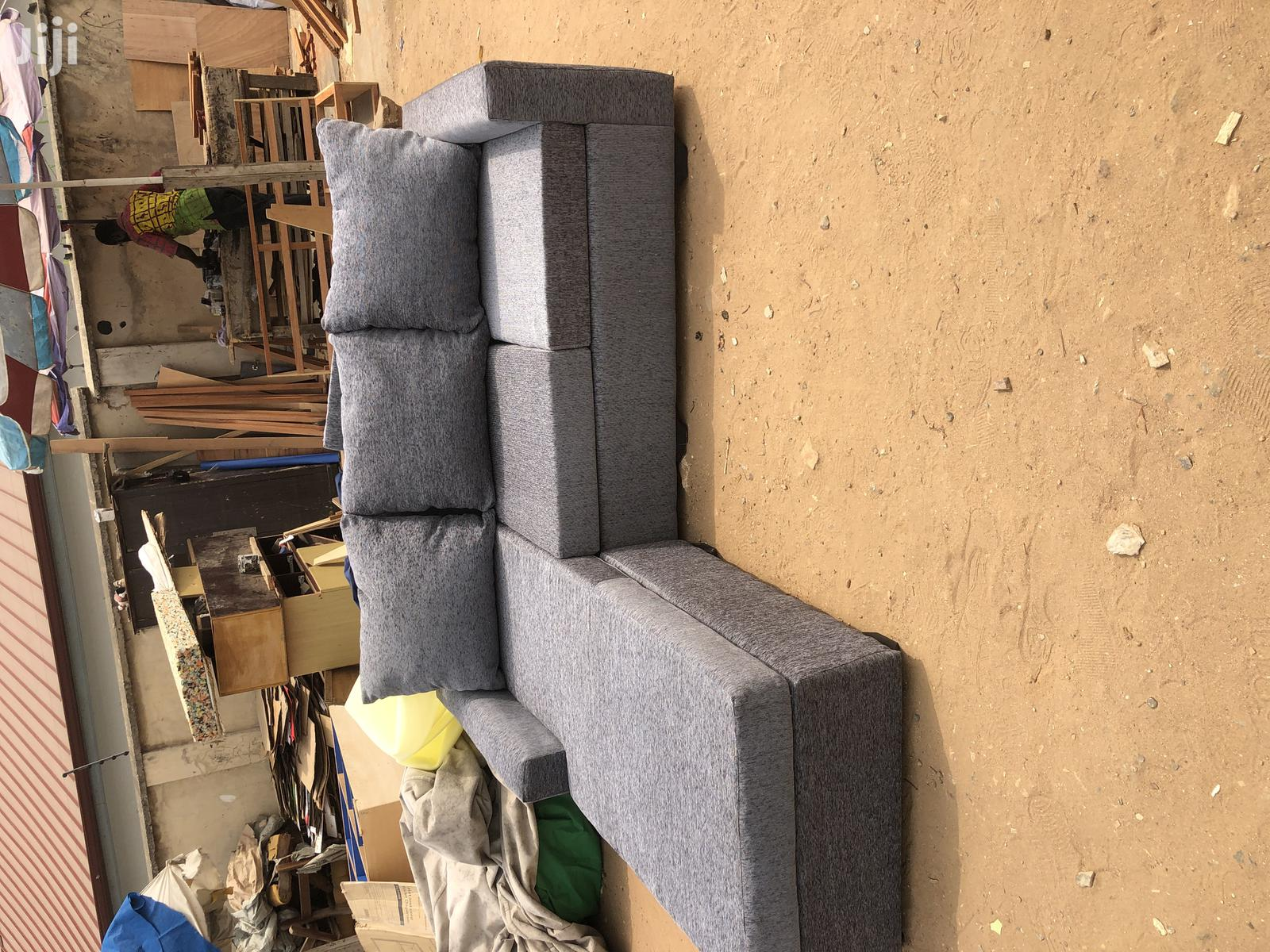 Order for a Brand New Gray Colour L- Shaped Sofa Chair