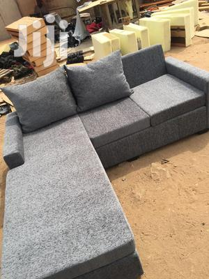 New<>Made With High Quality Fabric Ash Color L Shaped Sofa | Furniture for sale in Greater Accra, Adabraka