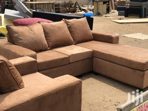 Full Set Brown Colour L- Shaped Sofa With Centre Table | Furniture for sale in Greater Accra, Adabraka