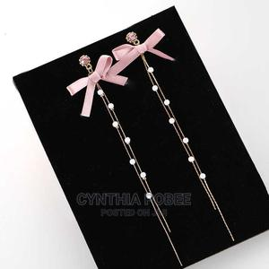 Pink Bow Tassel Earrings | Jewelry for sale in Greater Accra, Odorkor