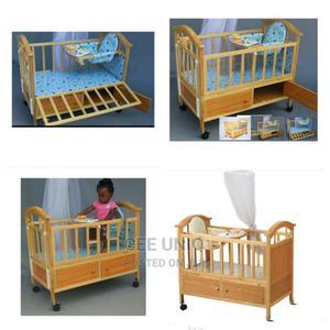 2 in 1 Baby Wooden Cot   Children's Furniture for sale in Greater Accra, Tema Metropolitan