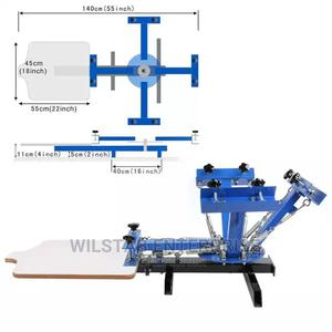 4 Color 1 Station Single Rotary Screen Press C | Printing Equipment for sale in Greater Accra, Accra Metropolitan