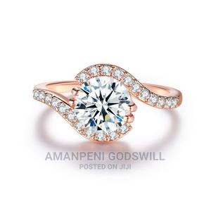 Emerald Cut Zircon Engagement/Promise Ring – Rose Gold | Wedding Wear & Accessories for sale in Greater Accra, East Legon