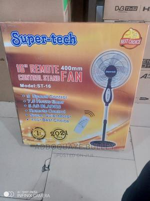 7.5 Hours Timer Super Tech Remote Control Standing Fan | Home Appliances for sale in Greater Accra, Adabraka