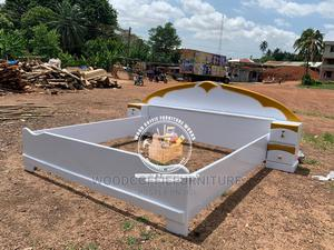 Queen Size White and Gold Bed | Furniture for sale in Ashanti, Kumasi Metropolitan