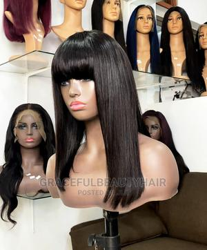 14 Inches Indian Remy Fringe Wig Cap | Hair Beauty for sale in Greater Accra, Ga South Municipal