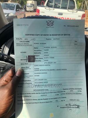 Birth Certificate  Assured at an Ease. | Travel Agents & Tours for sale in Ashanti, Kumasi Metropolitan