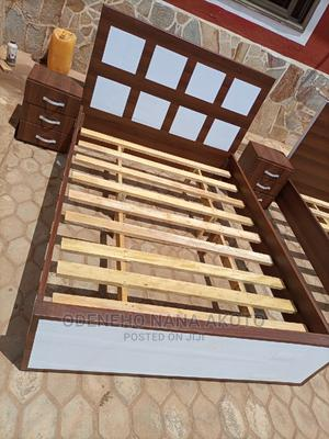 Beautifully Steong Double Size Bed (55/75)   Furniture for sale in Greater Accra, Adenta
