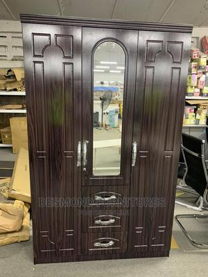 Three Doors Wardrobe With a Mirror | Furniture for sale in Greater Accra, Tema Metropolitan