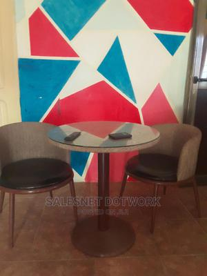 Lovely Glass Table With 2 Comfy Chairs | Furniture for sale in Greater Accra, East Legon