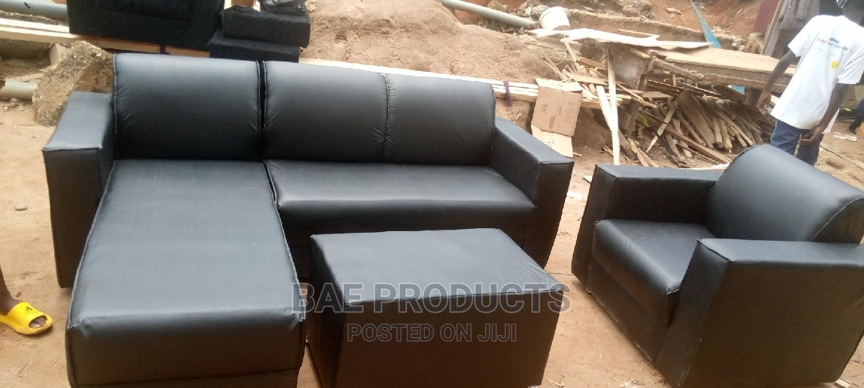 L-Shape Leather Sofa Set | Furniture for sale in Kumasi Metropolitan, Ashanti, Ghana