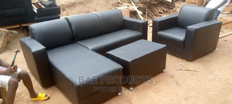 L-Shape Leather Sofa Set