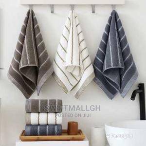 3 Pieces Cotton 34x74cm Towel Bath Towels | Bath & Body for sale in Greater Accra, Accra Metropolitan