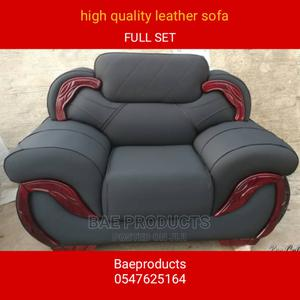 Full Set Quality Leather Sofa Chairs   Furniture for sale in Ashanti, Kumasi Metropolitan