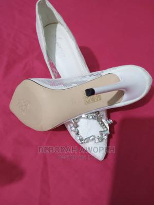 Ladies White Lace Heels | Shoes for sale in Greater Accra, Ashomang Estate
