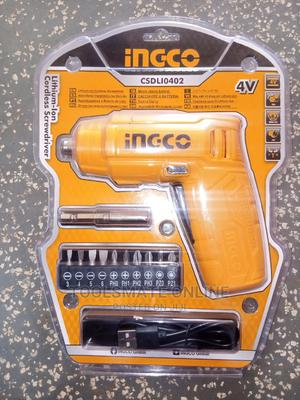 Ingco Lithium-ion Cordless Screwdriver 4V - CSDLI0402 | Hand Tools for sale in Greater Accra, Tema Metropolitan