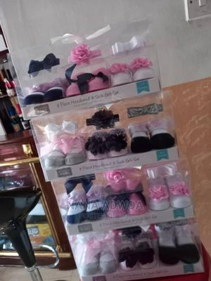 Baby Girl Shoe Socks and Headband Set | Children's Clothing for sale in Ashanti, Kumasi Metropolitan