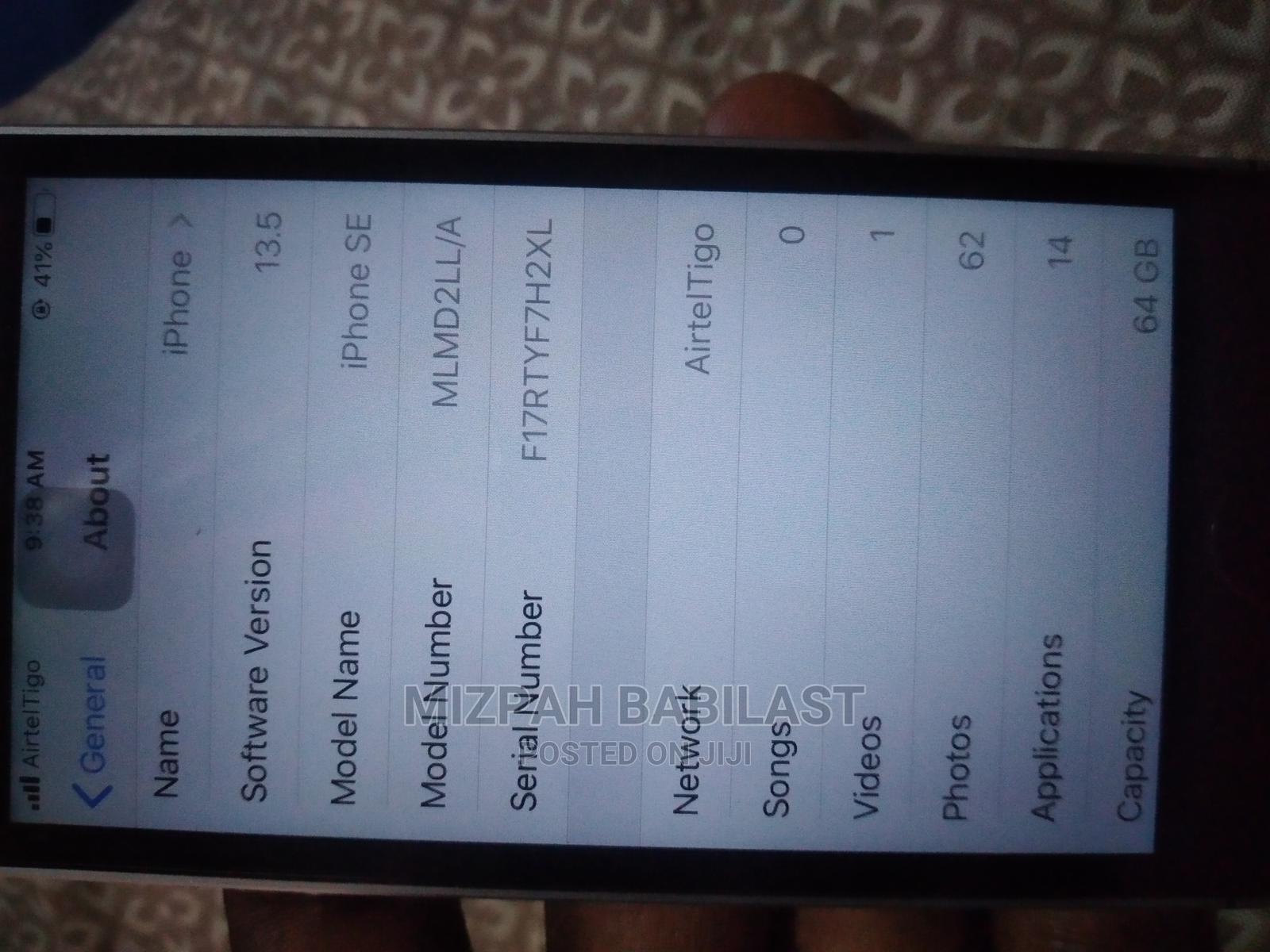 Apple iPhone SE 64 GB Black | Mobile Phones for sale in Sekyere South, Ashanti, Ghana