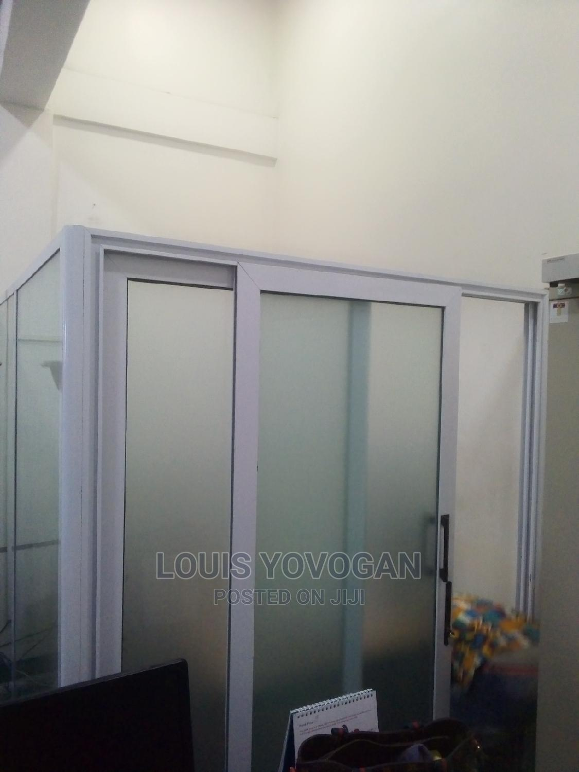 Office Separation With Frosted Glass
