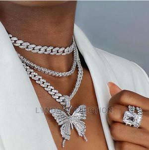 A Set Cuban Iced Necklace | Jewelry for sale in Greater Accra, Dansoman