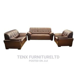 Sofa Set ( Brown Leather )   Furniture for sale in Greater Accra, Accra Metropolitan