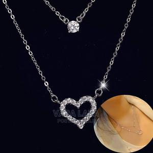 Double Diamond Heart Necklace | Jewelry for sale in Greater Accra, Accra Metropolitan