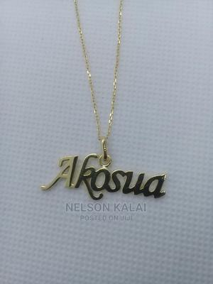 18k Gold Custom Name Necklace | Jewelry for sale in Greater Accra, Adjiriganor