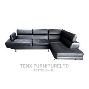 L-Shaped Leather Sofa Set (Loveseat)   Furniture for sale in Greater Accra, Accra Metropolitan