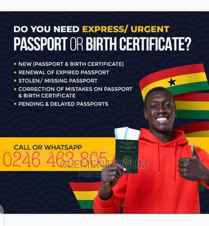 Assistance in Passport and Birth Certificates | Travel Agents & Tours for sale in Greater Accra, Dansoman