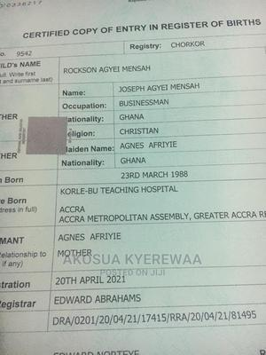 Fast Birth Certificate | Travel Agents & Tours for sale in Greater Accra, Circle