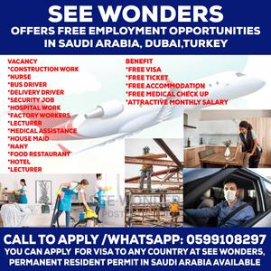 Free Employment Opportunities Open for All at See Wonders | Travel Agents & Tours for sale in Greater Accra, Accra Metropolitan