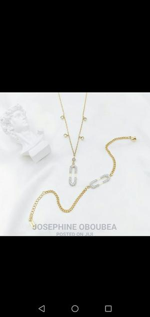Original Stainless Steel Necklace With Bracelet   Jewelry for sale in Greater Accra, Madina