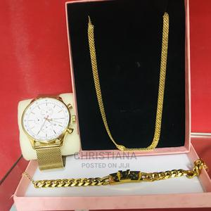 Men'S Jewelry Set With Watch,Necklace and Watch | Jewelry for sale in Greater Accra, Ofankor