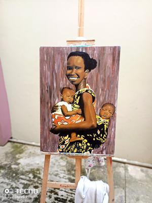 Acrylic Painting on Canvas( Mother and Twins) | Arts & Crafts for sale in Ashanti, Kumasi Metropolitan