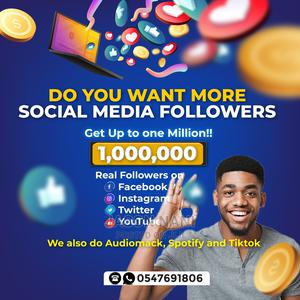 Get Real Instagram Followers | Computer & IT Services for sale in Greater Accra, East Legon