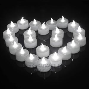 White Battery Candle | Home Accessories for sale in Greater Accra, Alajo