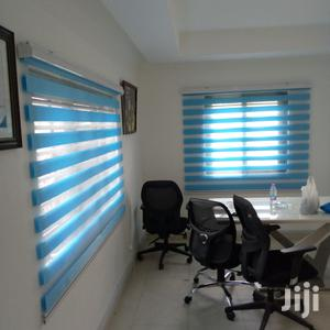 Sea Blue Zebra Curtains Blinds | Home Accessories for sale in Greater Accra, Tema Metropolitan