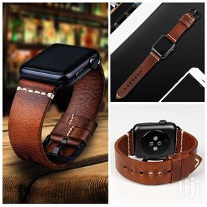Apple Watch Leather Strap For Series 1 2 3 4 5 (Strap Only)   Accessories & Supplies for Electronics for sale in Greater Accra, Cantonments