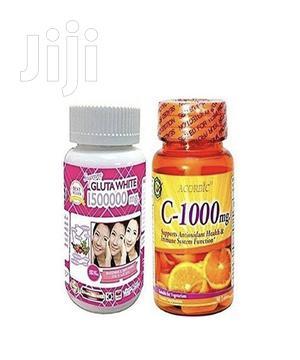 Gluta White Glutathione Whitening Pills Acorbic Vitamin C - 1000mg   Vitamins & Supplements for sale in Greater Accra, East Legon