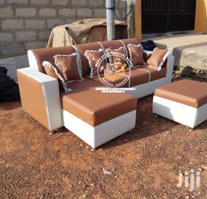 L Shape Leather Sofa Set | Furniture for sale in Ashanti, Kumasi Metropolitan