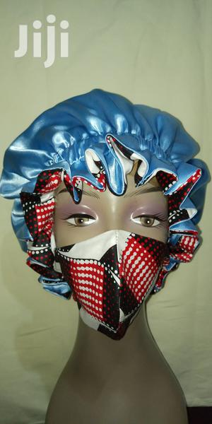 Reversible African Print and Floral Satin Hair Bonnet   Clothing Accessories for sale in Greater Accra, Teshie
