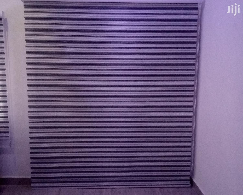 Black and White Stripes Zebra Blinds