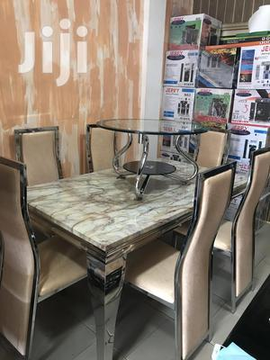 Six(6)Chairs Dining Table (Marble) | Furniture for sale in Greater Accra, Adabraka