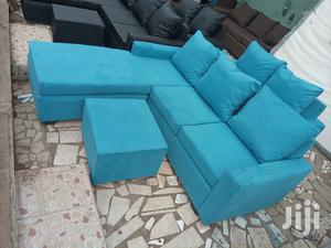 Sea Blue L Shaped Sofa. Free Delivery | Furniture for sale in Greater Accra, Kotobabi