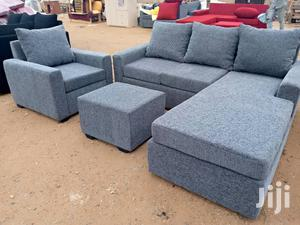 Ash Colour L- Shaped Sofa Chair | Furniture for sale in Greater Accra, Adabraka