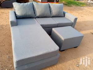 Ash Colour L- Shaped Sofa With a Centre Table | Furniture for sale in Greater Accra, Adabraka